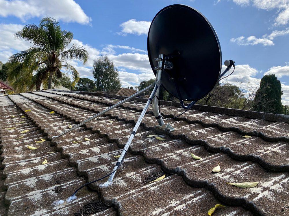 Satellite VAST TV South Australia vast satellite dish mounted