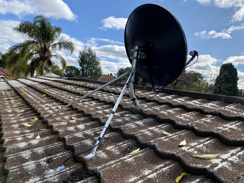 Satellite VAST TV in South Australia vast satellite dish mounted on roof top